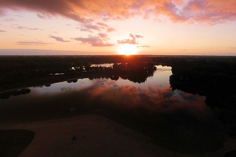 Een zonsopgang gefotografeerd door Mark Bruggeman
