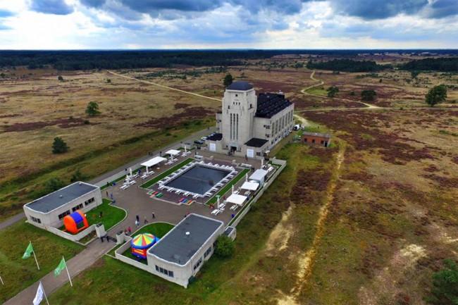 Radio Kootwijk vanuit de lucht. Foto: Sander Dijkman