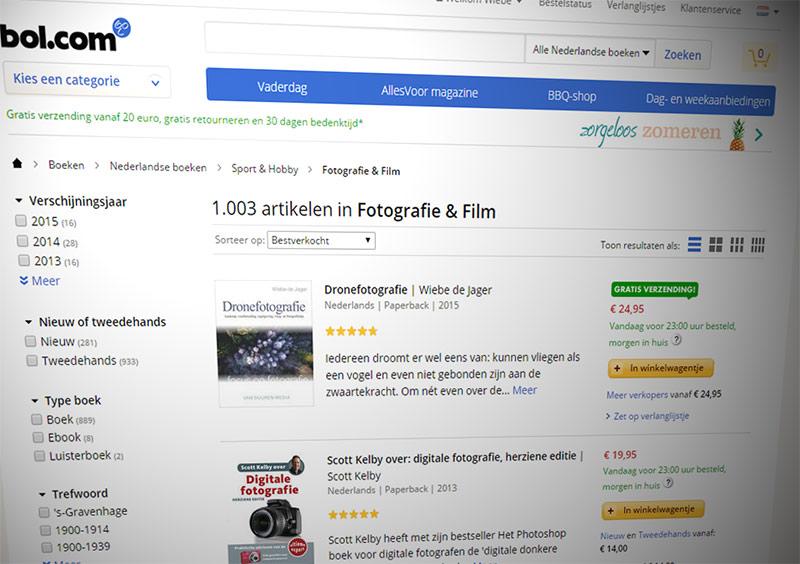 Dronefotografie bestverkocht bij Bol.com