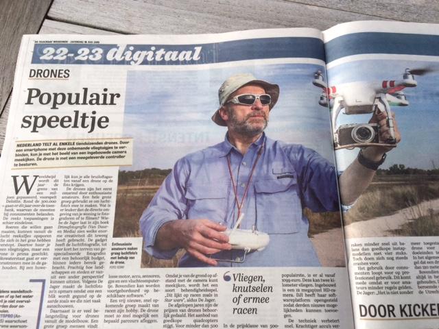 Artikel Telegraaf over drones