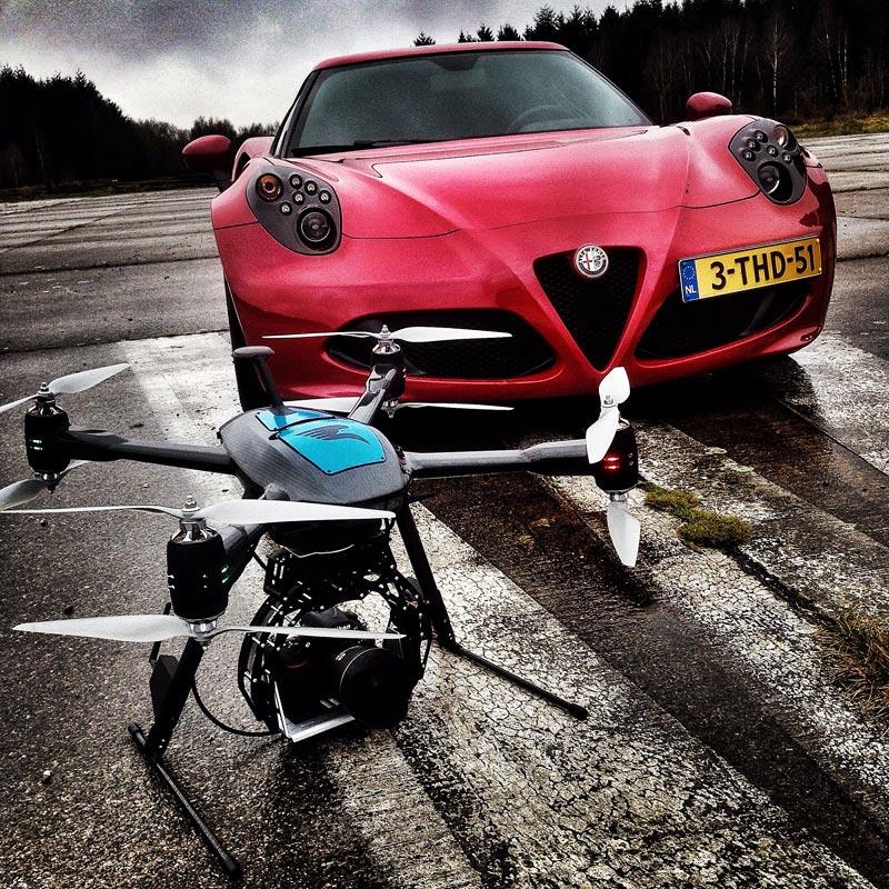 Alpha Romeo en Aerialtronics drone