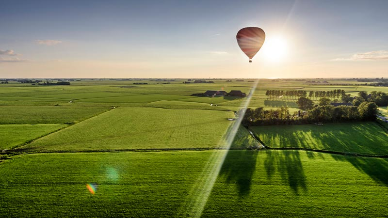 Luchtballon Friesland