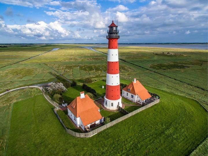 Leuchtturm in Westerheversand. Marco Leiter, CC BY-SA