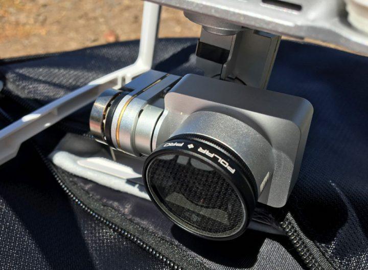 De polarizer van PolarPro is voorzien van een draairing om de mate van polarisatie in te stellen